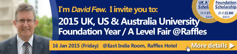 2015 UK, US & Australia University Foundation Year / A Level Program Fair