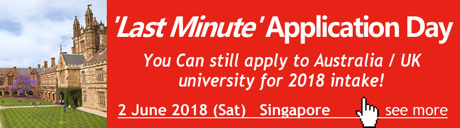 2018 June - UK, Australia University Last Min Application Day